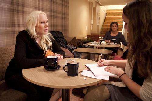 Linnea fikk en prat med Susanna på Wayne's Coffee
