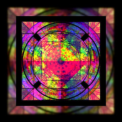 Stained Glass Color Wheel (garlandcannon) Tags: paintshoppro picnik colorwheel warmcolors lyle58 kplay bighugelabs