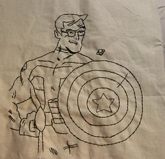 Stephen Colbert Superhero (Subversive Crafting) Tags: embroidery crafts