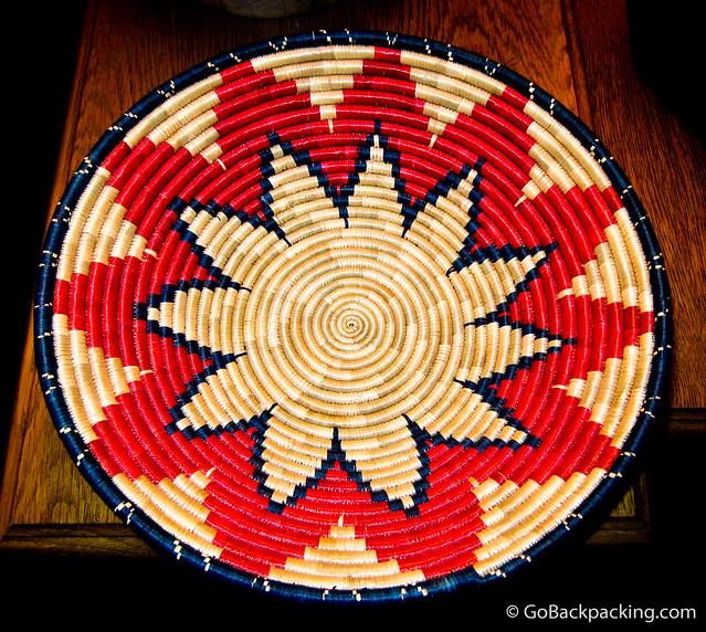 Woven bowl from Rwanda