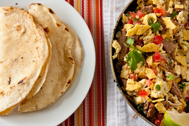 Migas with Homemade Tortillas