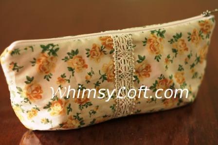 Pouch - flower & lace