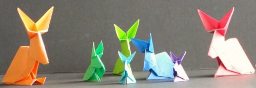 Conejos- Año Nuevo Chino, construidos por Elisa Morúa