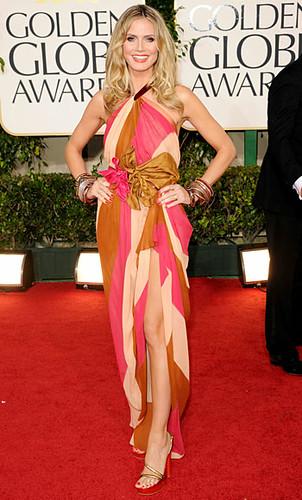 Heidi Klum golden Globes 2011