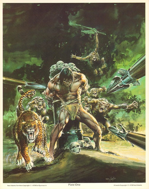 Neal Adams 1978 Portfolio Tarzan 2