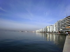 Thessaloniki by the sea (AriadnefromGreece) Tags: blue winter wednesday colours 2011 poppytalk