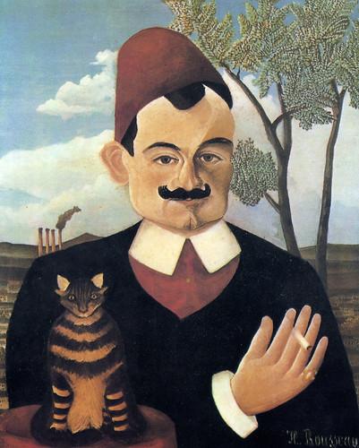 Henri Rousseau: Portrait de Pierre Loti (1910) by petrus.agricola