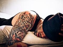 a rainy day (pimpdisclosure) Tags: tattoo bed bedroom rest fedora pimp pimpexposure part54 thepimpchronicles pimpdisclosure