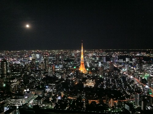 Tokyo Tower & the moon