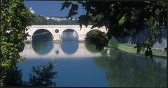 "Reflections on my Roman holiday. (NaturaLite's ""SnapDecisions"") Tags: leica bridge italy rome fuji velvia pontesisto m7 tiberriver flickraward"
