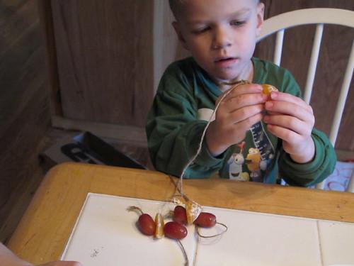 Lukey stringing away