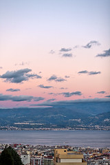 what I see from my window, part 4 (Alessandro Grussu) Tags: italien sunset sea italy panorama canon town meer italia tramonto mare sonnenuntergang strasse stadt sicily 5d strait sicilia messina città sizilien stretto