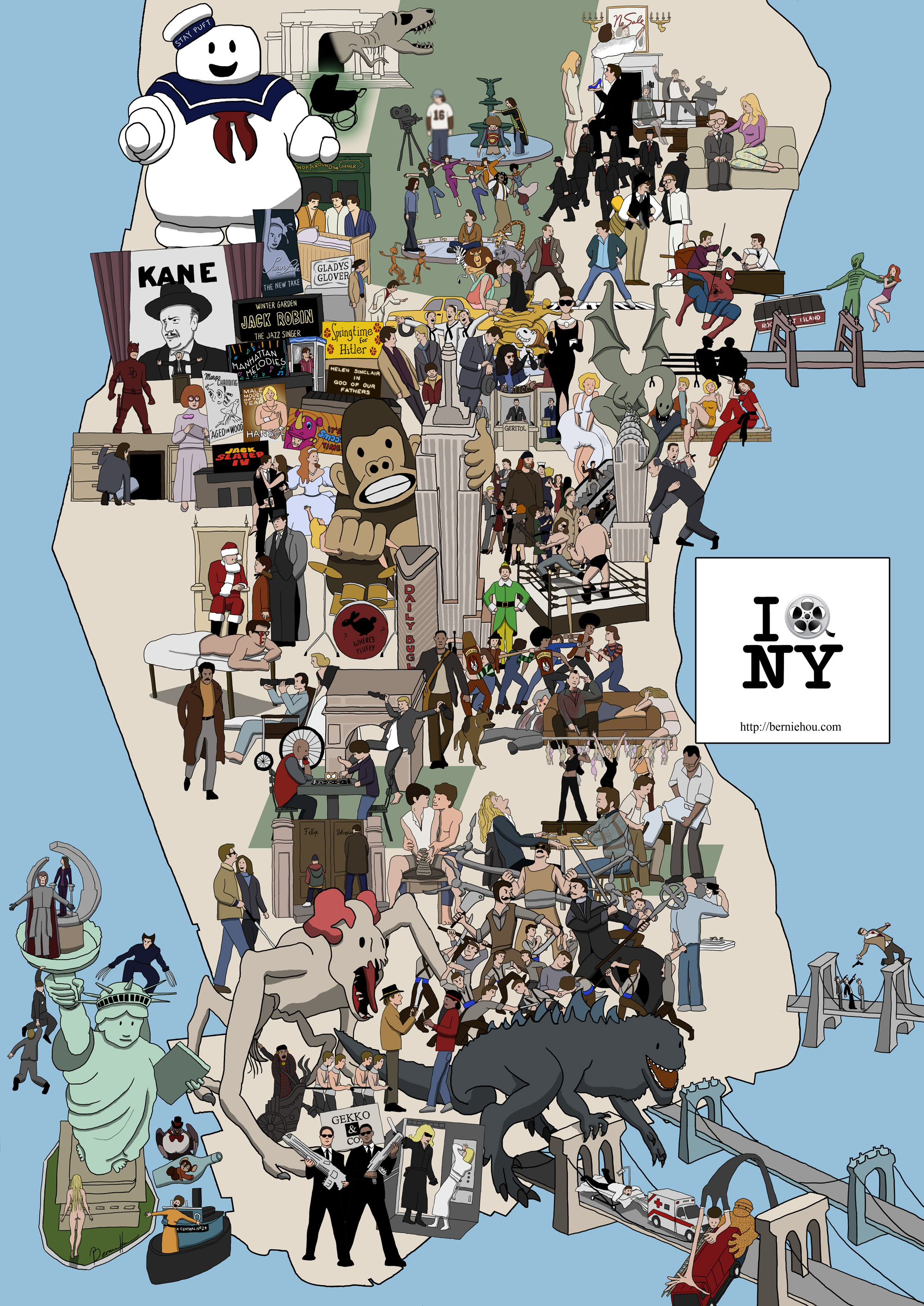 Name The 91 Films On This Awesome New York City Movie Map