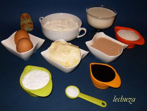 Cake de moras y choco-ingrs.
