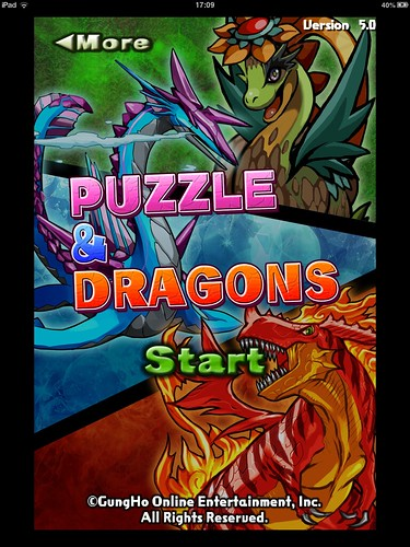 Puzzle and Dragons Main Menu: screenshots, UI