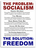 The Solution: FREEDOM (KAZVorpal) Tags: socialism government authoritarian hoboken newjersey flint michigan roads bridges infrastructure power mail chicago dc education publicschools healthcare monopoly regulations laws mandatory