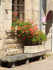 Rochefort-en-Terre (Chti-breton) Tags: banc auge granite ardoise