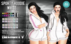 !NFINITY Sporty Hoodie - WHITE (infinity.owner) Tags: buynowsl buy now sl second life october nfinity sporty hoodie mesh apparel women woman female belleza maitreya slink physique hourglass venus isis freya avatar monthly