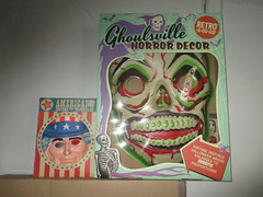 Green Grinning Skull Mask 6206 (Brechtbug) Tags: green grinning skull mask halloween semi vintage with regular sized uncle sam box ben cooper collegeville halco ghoulsville retro newspaper sunday funnies comics holiday costume comic strip book comicbook spy movie film cinema americana america freedom justice super hero spooky jumbo size
