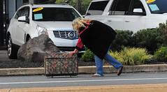 on the road (bluebird87) Tags: nikon d300 street women suitcase luggage