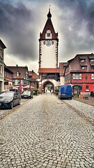 The clock of Gengenbach! (Curious ClickZ of Rezwanul Alam) Tags: gengenbach blackforest germany snapseed note4 photooftheday streetphotography clock sky clouds beautiful