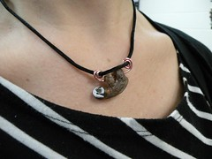 Sloth Necklace (lulurue) Tags: polymerclay sloth pendant jewlery