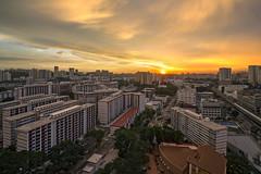Cityscapes of Singapore - Dreamy Clouds before Epic Sunset (gintks) Tags: gintaygintks gintks landscapes singapore singaporetourismboard singapur sg51 housingdevelopmentboard hdb mrt yoursingapore exploresingapore orangeglow sunset sunsetglow