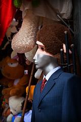 (Joshua Best) Tags: street man colour mannequin monkey doll candid darwin evolution vietnam suit hanoi