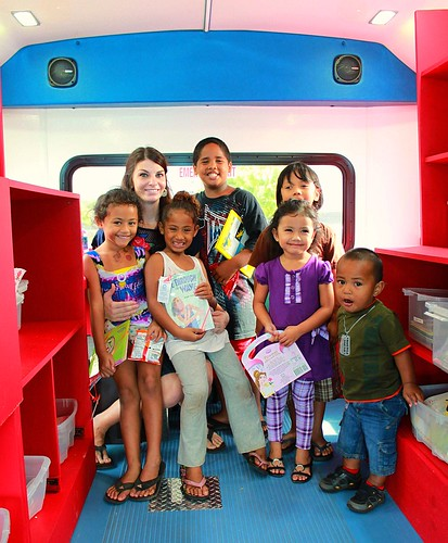 Hawaii Literacy's shiny new Bookmobile is on Waianae's reading road again