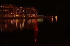 Reflecting city (Tove L) Tags: reflection ex night canon harbour sigma f28 manfrotto 500d 1750mm 055xprobe