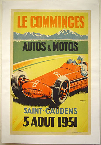 012-Le Comminges St.Gaudens, France,April 1951-© 2010 Vintage Auto Posters. All Rights Reserved