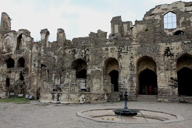 Royal Palaces at Golconda Fort