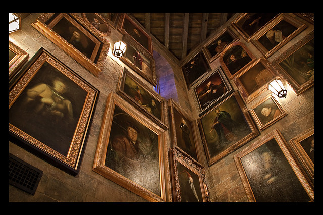 Hogwarts Castle:  Wall of Talking Portraits