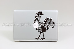 Black Rooster macbook lapop decal sticker skin