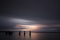 On the other side (Kees Smans) Tags: bridge sunset sky holland colour art water netherlands colors clouds landscape sundown fineart nederland zeeland nd posts dutchlandscape zierikzee longtimeexposure zeelandbrug daytimelongexposure zeelandbridge nd110 keessmans 2010keessmans bwnd11010stopfilter