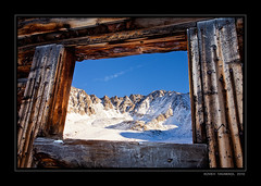 Room With A View (Koveh Photography) Tags: blue winter snow mountains abandoned canon eos cabin colorado ruin mayflower gulch 1635 miningcabin mayflowergulch ef1635 5dmkii kovehphotography koveh tavakkol