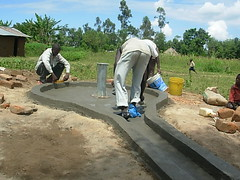 Bumang'ale Nursery school well-construction of well drainage pad