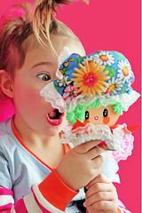 Sadie with Cheeky (boopsie.daisy) Tags: flower cute girl vintage mirror mod doll power handmade girly ooak inspired kitsch retro dolly groovy boopsiedaisy