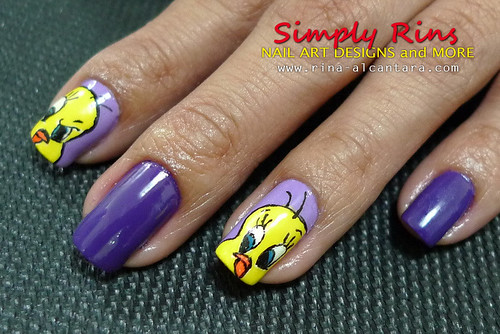 Nail Art Tweety 05