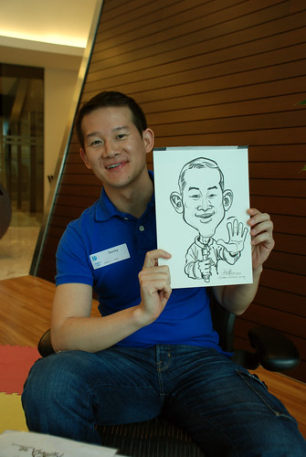 Caricature live sketching for Pan Pacific Hotels Group Family Day -3