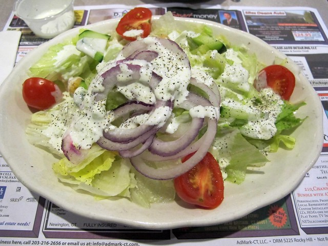 Salad with cucumber dill dressing