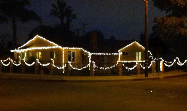 our house with christmas lights 2010