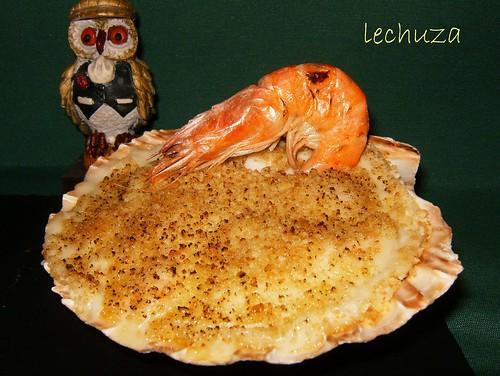 Conchas de salmón-hecho