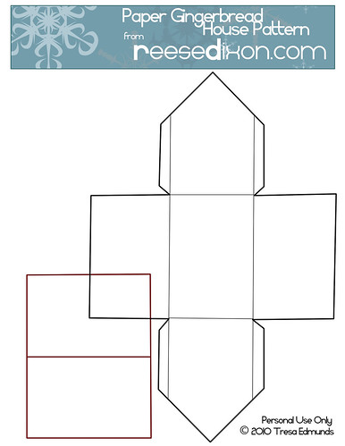 Paper Gingerbread House Pattern