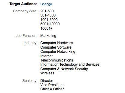LinkedIn DirectAd target