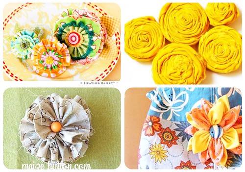 fabric flowers diy.linky love