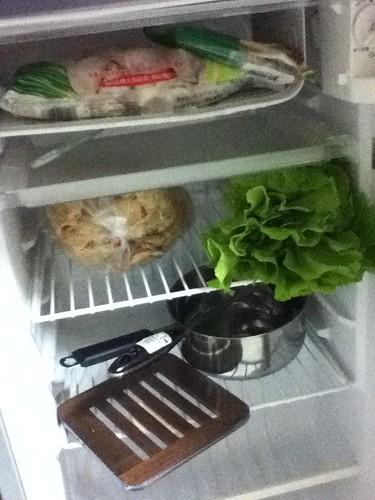冰箱、食材