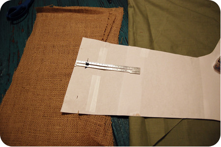{craft}ernoon: burlap stocking - step 5