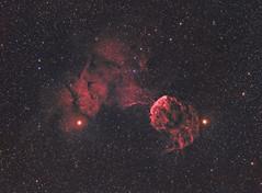 IC443, the Jellyfish nebula in HaRGB (write_adam) Tags: sky fish stars jellyfish space deep observatory telescope nebula astrophotography jelly astronomy alpha astronomia hydrogen astronomie nebulae nebulosity ic443 stl11000 Astrometrydotnet:status=solved fsq85 Astrometrydotnet:version=14400 Astrometrydotnet:id=alpha20101267725190
