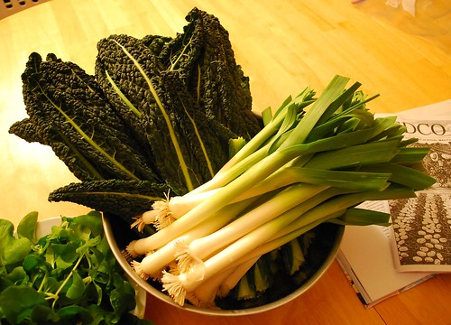 Mid December Kale and Leek Harvest